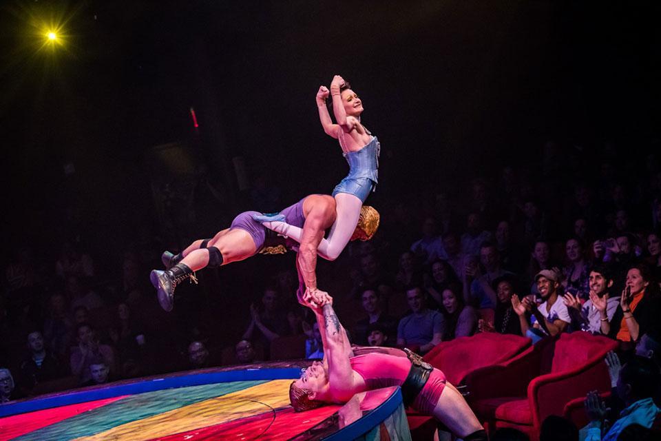 Cirque du Soleil performers.