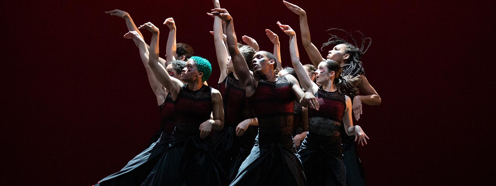 "UNCSA dancers performing ""Battlefield"" by Robert Battle / Photo: Rosalie O'Connor"