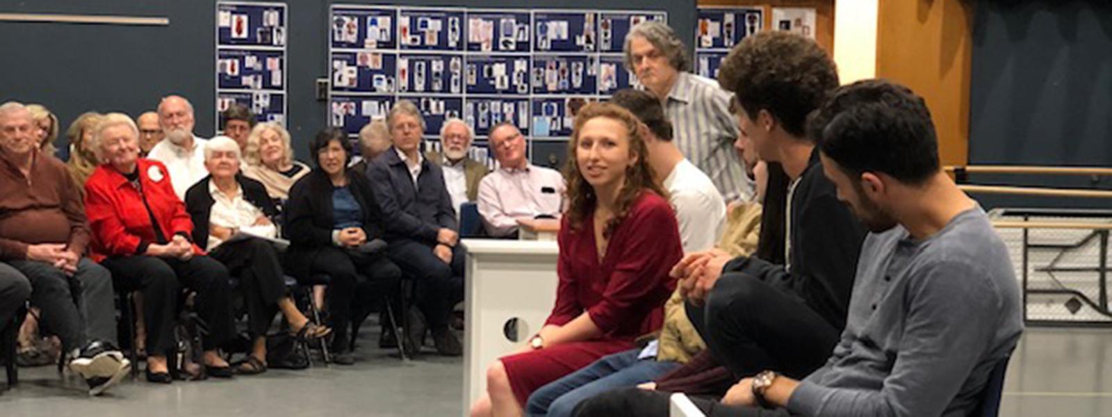 "Behind the Scenes – Drama Dean Scott Zigler introduces ""Next to Normal"" cast"