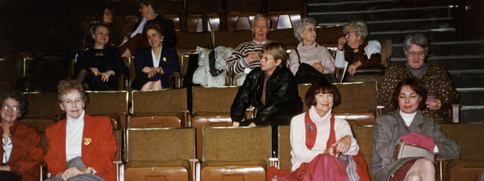 Attending a School of Dance performance, 1997.