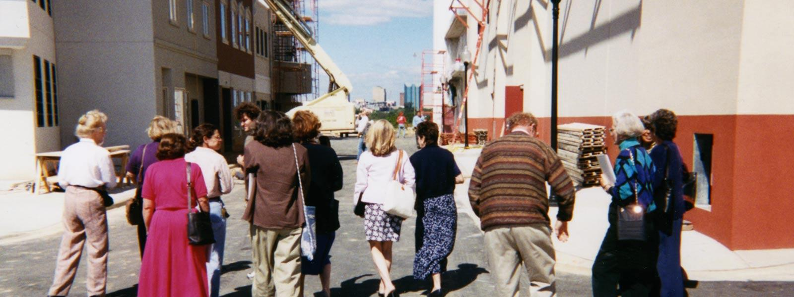 Touring the new School of Filmmaking, 1997.