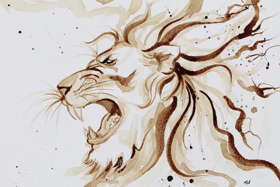 """""""Coffee Roar"""" by Tammie Wales"""