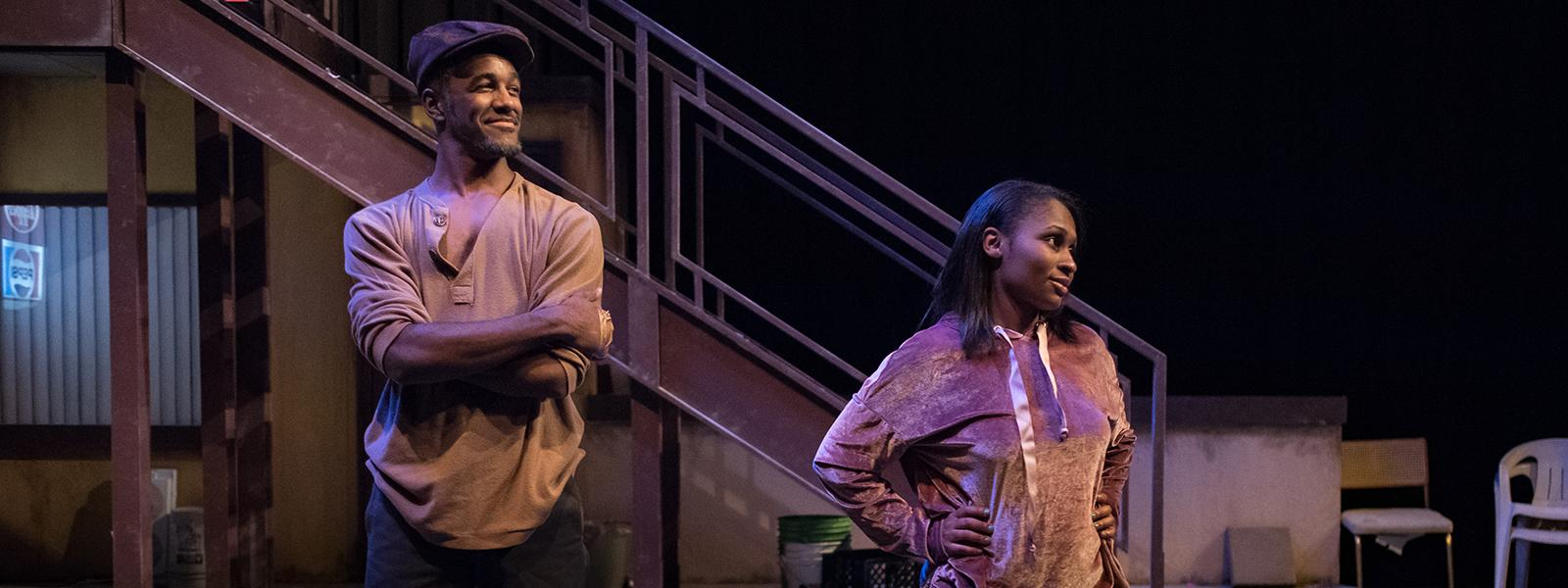 "Malik Childs and Nikyla Boxley in ""Airline Highway"""
