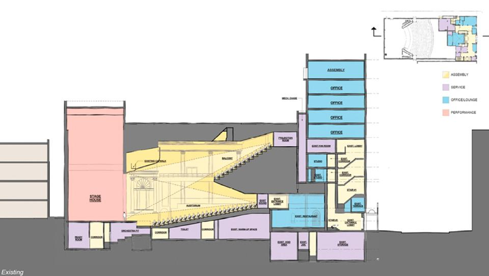 Existing Stevens Center design