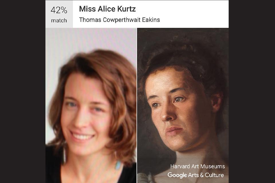 "Elizabeth Alexander, Visual Arts - Sculpture / Thomas Cowperthwait Eakins' ""Miss Alice Kurtz"""