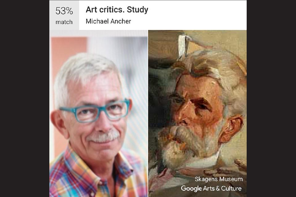 "Howard Jones, Director of Scenic Art and Scene Painting / Michael Ancher's ""Art Critics. Study"""