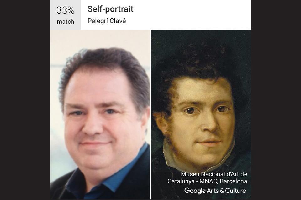 """Dean Michael Kelley / Pelegrí Clavé's """"Self-portrait"""""""