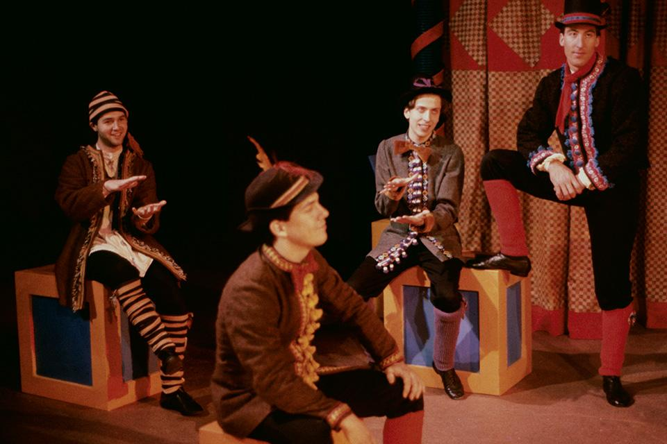 "Chris Parnell (second from left) in UNCSA's production of ""Story Theatre."" / Photo: Kurt Eslick, courtesy of UNCSA Archives"