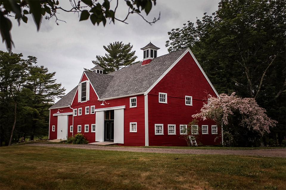 The barn at Aris Farm hosts free performances for residents of Walpole, Maine.