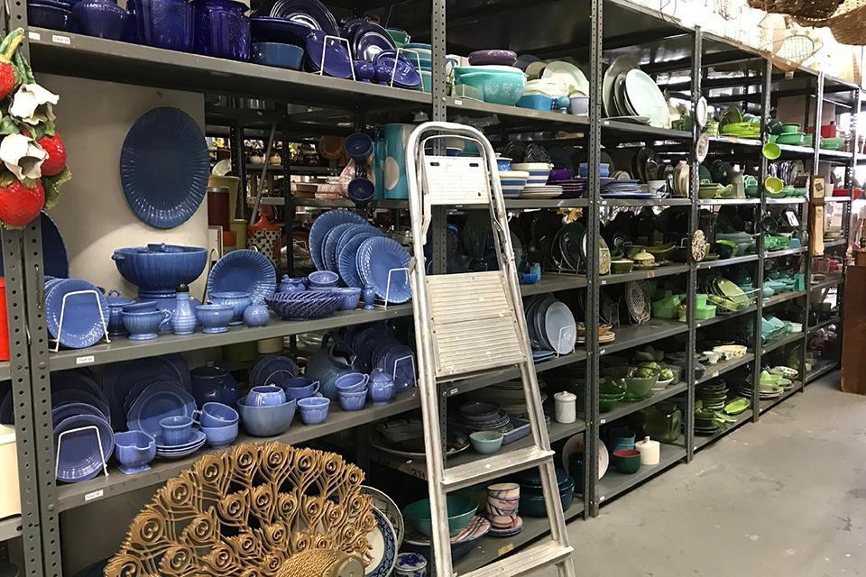 Bieler's company, Eclectic/Encore Props, is housed in a 95,000 sq ft warehouse in Long Island City, New York and has the largest inventory selection on the East Coast.