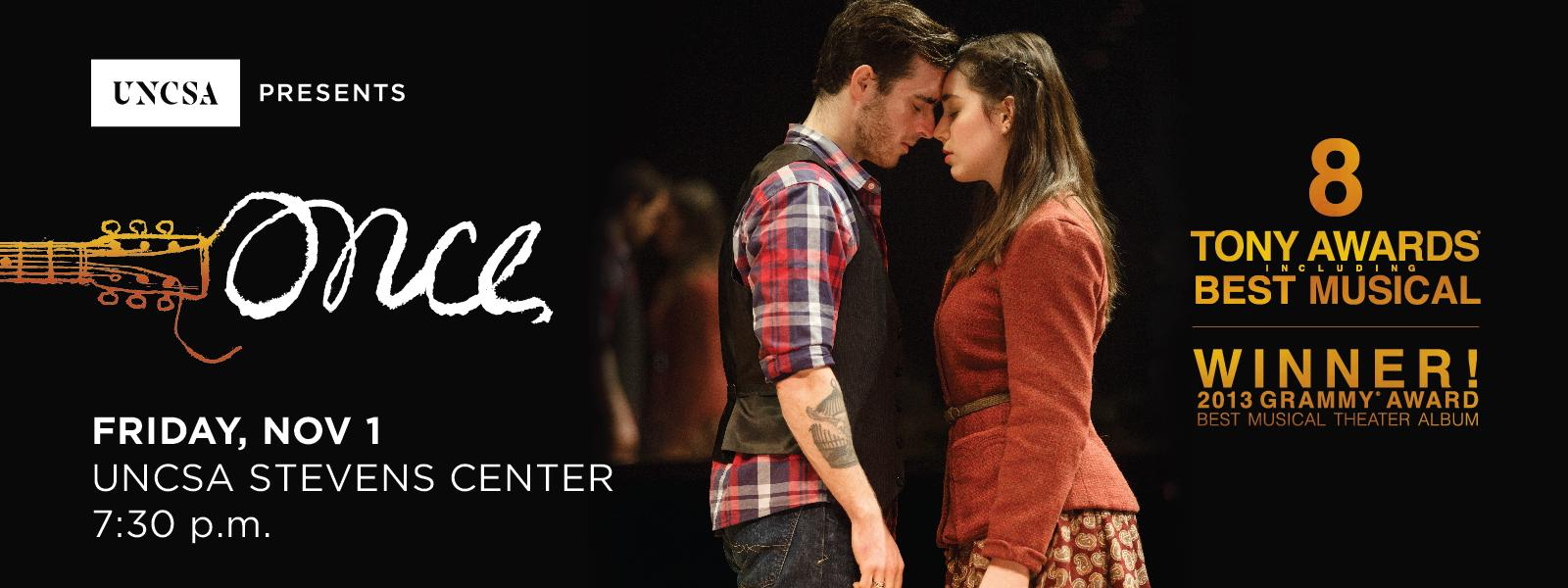 "Broadway in Winston brings us ""Once"": an unforgettable love story set to music.>>BUY TICKETS"