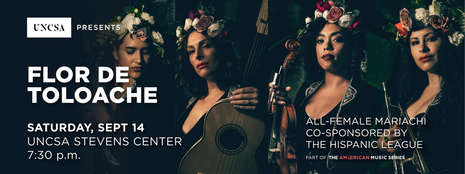 Flor de Toloache's all-female mariachi band has a unique flavor and sound creating a fresh take on traditional Mexican music.>>BUY TICKETS