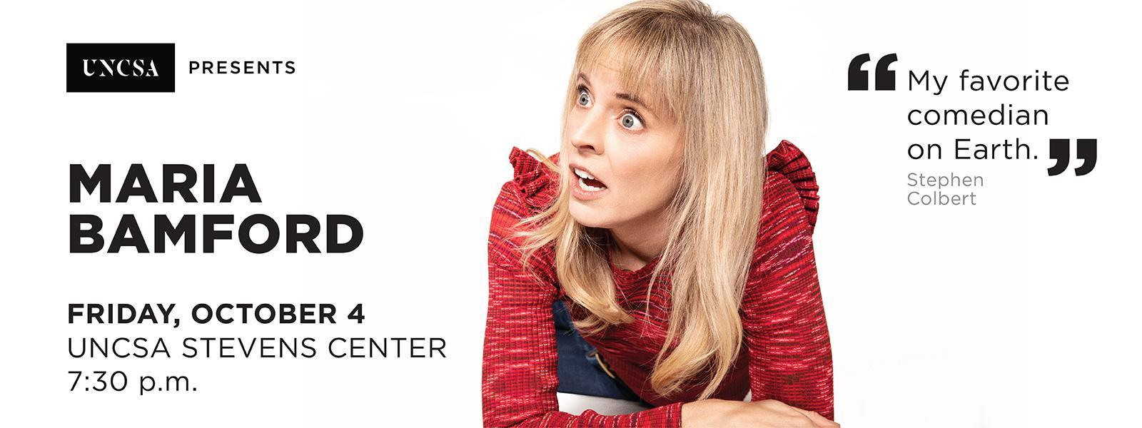 Maria Bamford, a stand-up comedian, actress and writer, whose iconically surrealist comedy toys with matters of family, anxiety and depression.>>BUY TICKETS
