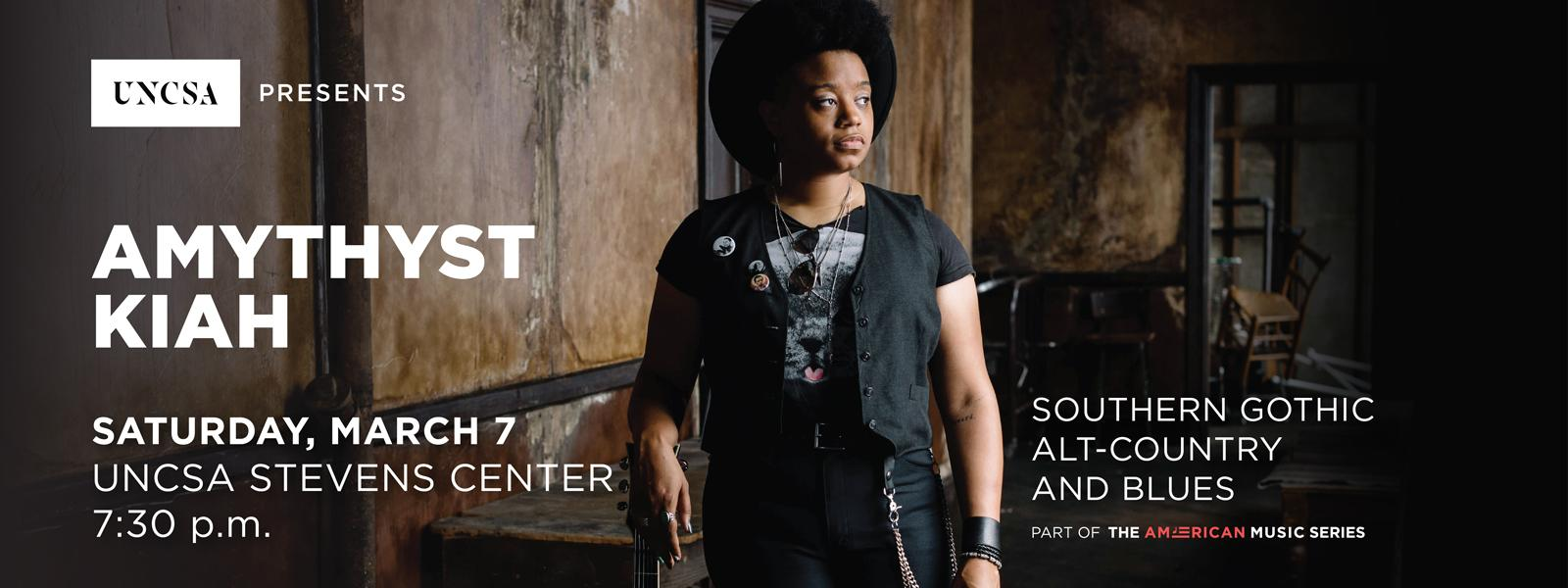 Southern gothic alt-country blues singer Amythyst Kiah performs at the Stevens Center>>BUY TICKETS