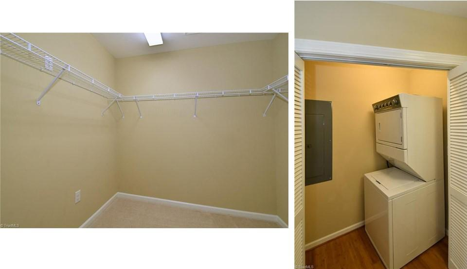 All units have walk-in closets and their own washer and dryers.