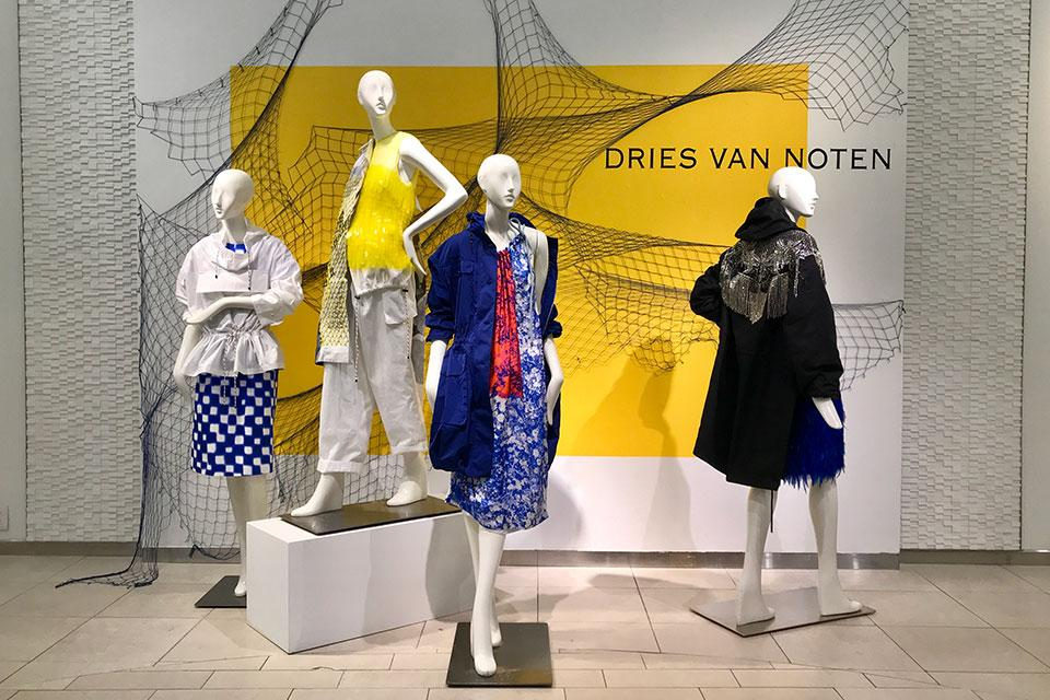 Display installations designed by Matz for Saks Fifth Avenue.