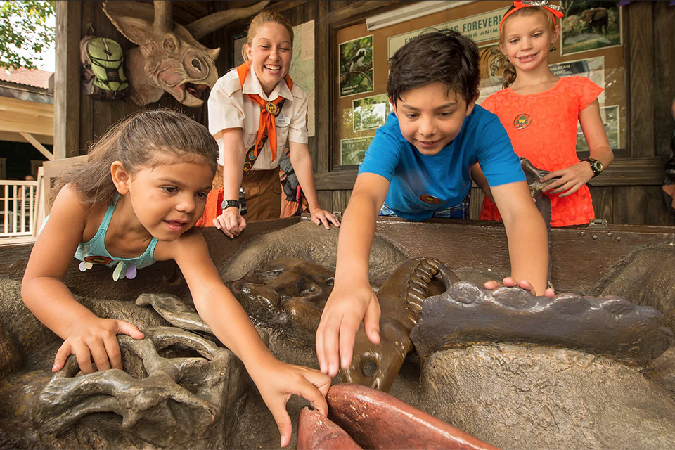 "Inspired by the Pixar movie ""Up,"" the Wilderness Explorers challenge in Disney's Animal Kingdom that Gearhart collaborated on teaches guests different wilderness skills. / Photo: Disney"
