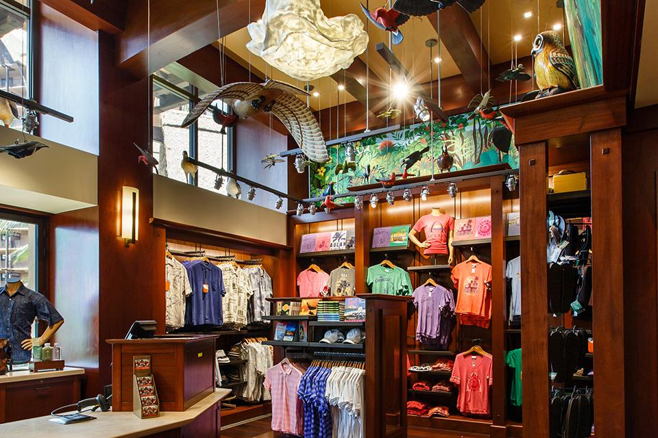 At Aulani, a Disney Resort & Spa in Hawaii, Gearhart collaborated on the Hale Manu boutique where guests can purchase 'distinctive gifts with an island flair.' / Photo: Disney