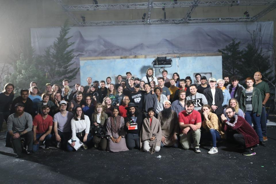 "Cast and crew for ""Lost in the Red Snow"" / Photo: Hailey Cheyenne Port"