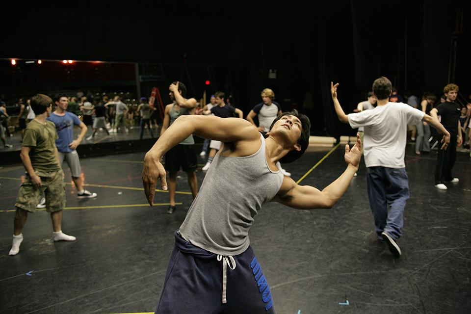"""Rehearsal for """"West Side Story"""""""