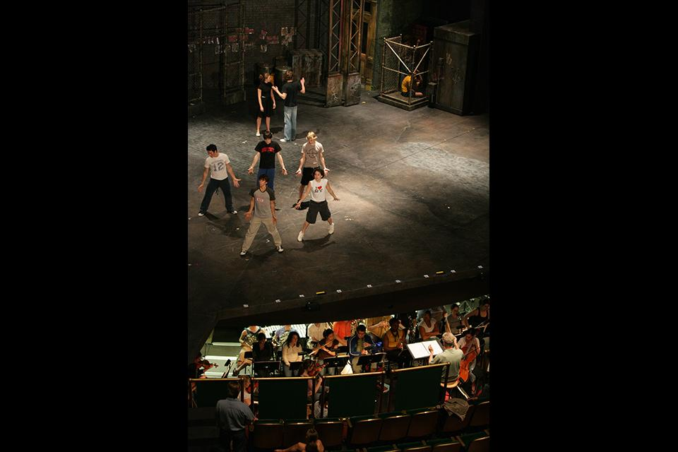 "Full rehearsal for ""West Side Story"""