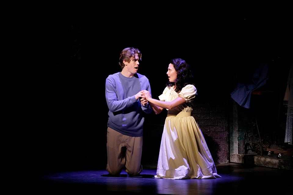 "Katharine Elkington ('08) as ""Maria"" and Jordan Brown ('08) as ""Tony"" in UNCSA's 2007 production of ""West Side Story."""