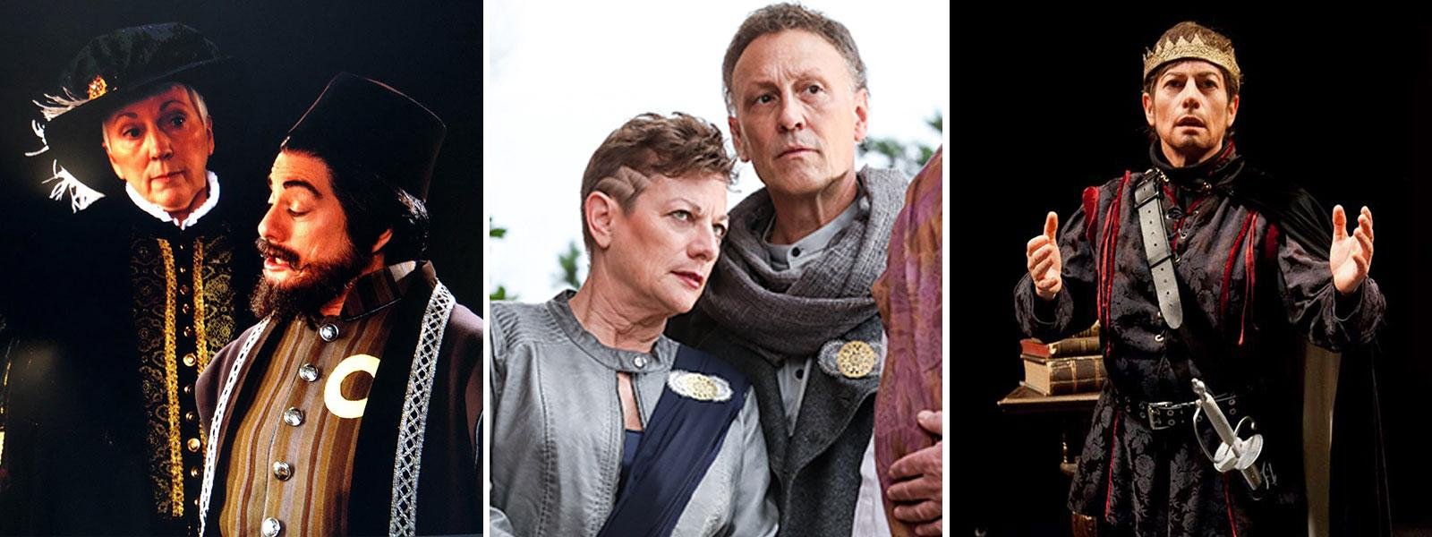"""From left: Wolpe as Shylock in """"The Merchant of Venice,"""" Cassius in """"Julius Caeser"""" and as the title character in """"Hamlet."""""""