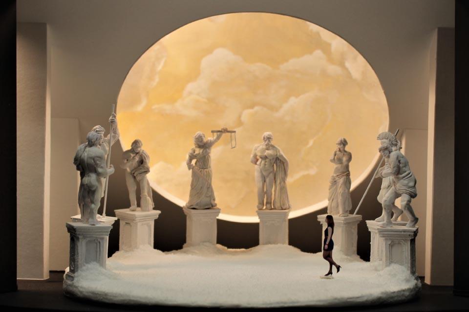 "Model of ""Antigone"" set design, Brett Sellitti's final class project in her junior year."