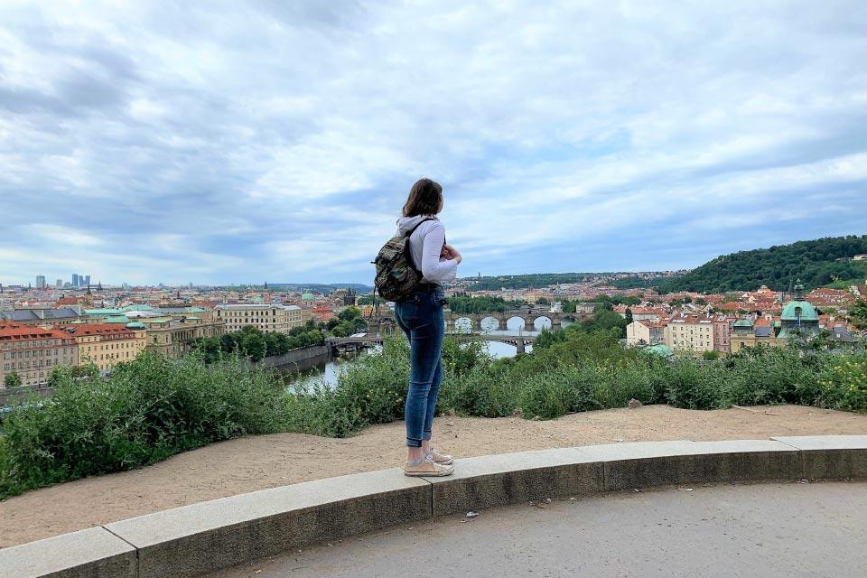 Brett Sellitti was among the Design & Production students who attended the Prague Quadrennial in the Czech Republic in June 2019.