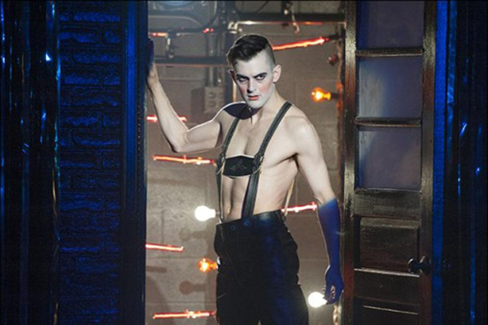 "Taylor in the 2015 Signature Theatre production of ""Cabaret"" where he starred as 'The Emcee.'"