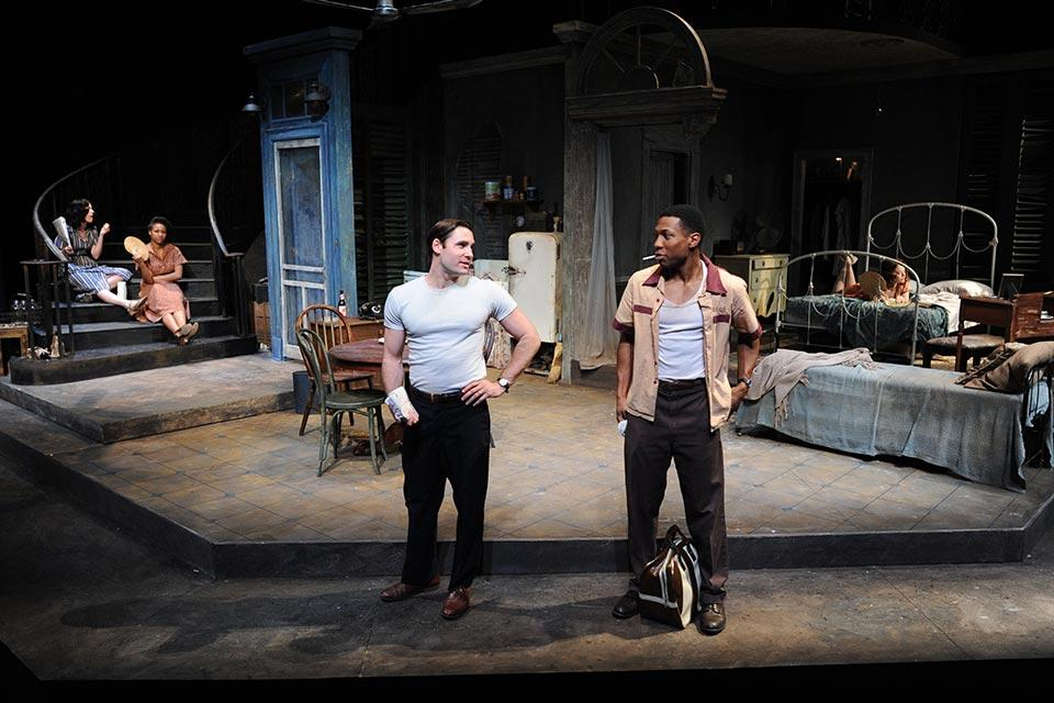 "Jonathan Majors in ""A Streetcar Named Desire"" during his fourth year at UNCSA in Fall 2011."