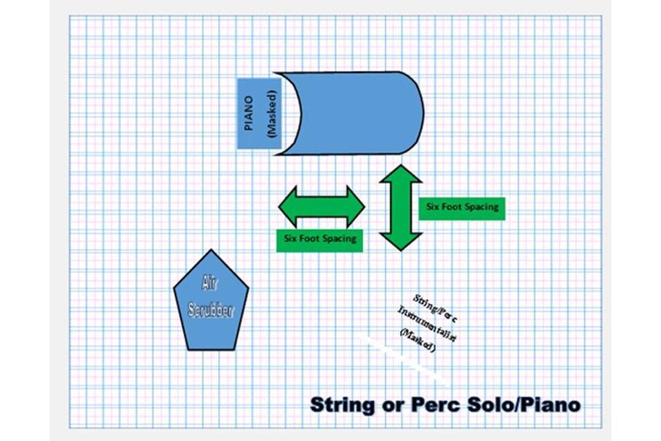 String or Percussion solo/piano