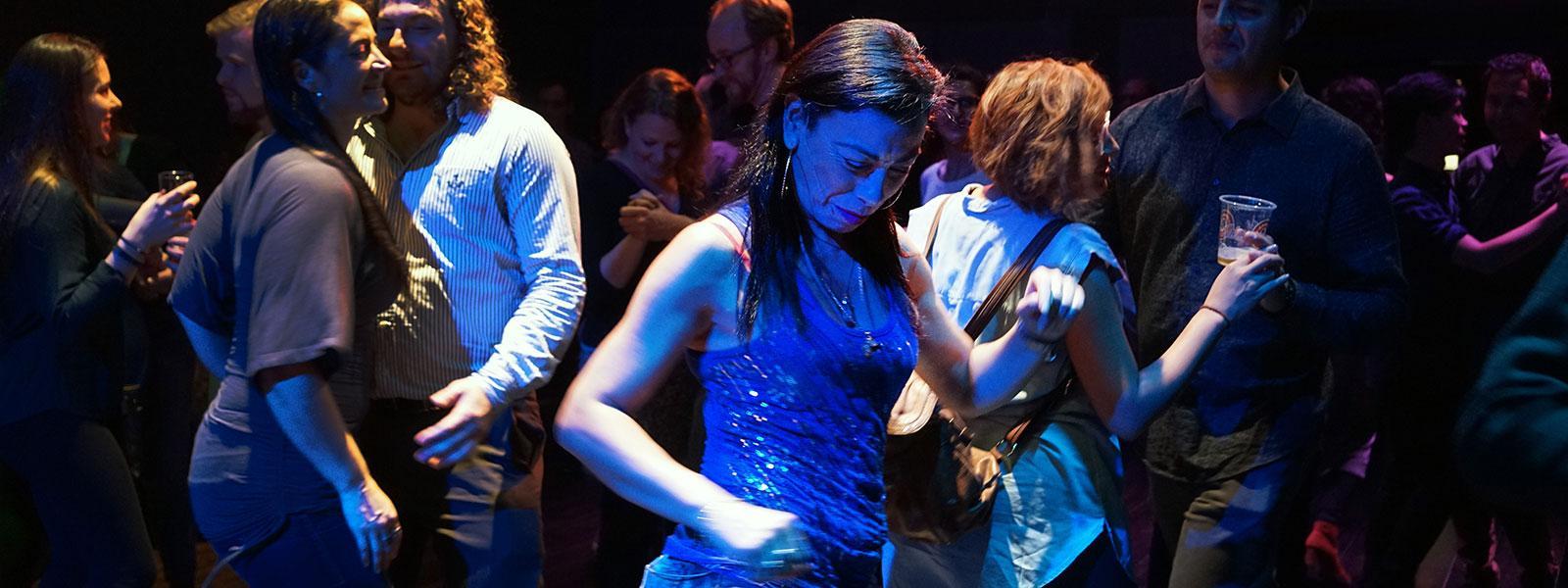 "Carmen Aguirre performing ""Broken Tailbone."" / Photo: Erin Brubacher"