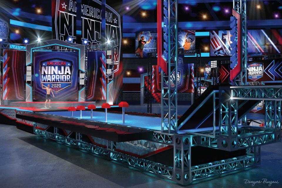 "Set rendering for the 12th season of NBC's ""American Ninja Warrior."""