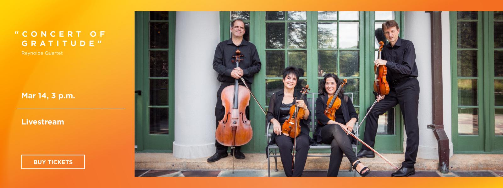 The Reynolda Quartet: Concert of Gratitude - Livestream