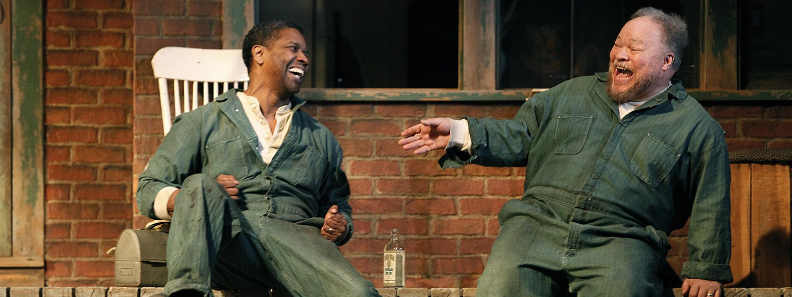 """Henderson with Denzel Washington in """"Fences"""" on Broadway"""