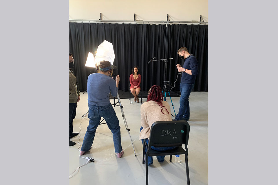 """Behind the scenes of """"The Women of Colour Project."""" / Photo courtesy of Bailey James"""