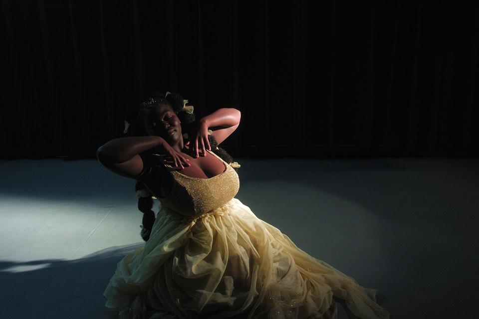 "Aisha Sougou on the set of ""The Women of Colour Project."" / Photos courtesy of Bailey James"