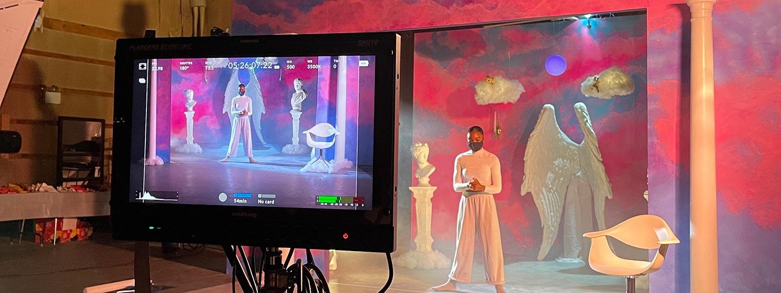 """Alone Together"" was filmed on four sets, including Giani Gates' heaven-inspired set."