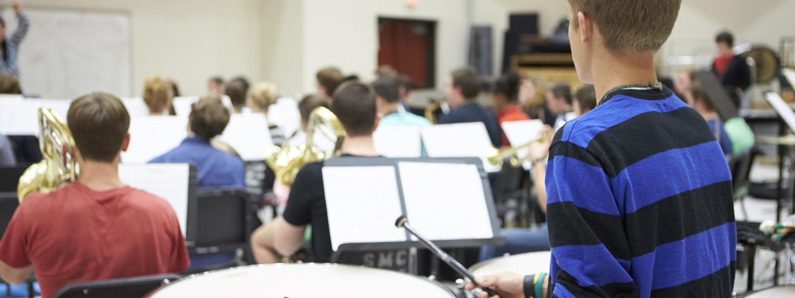 Wind Ensemble Rehearsal