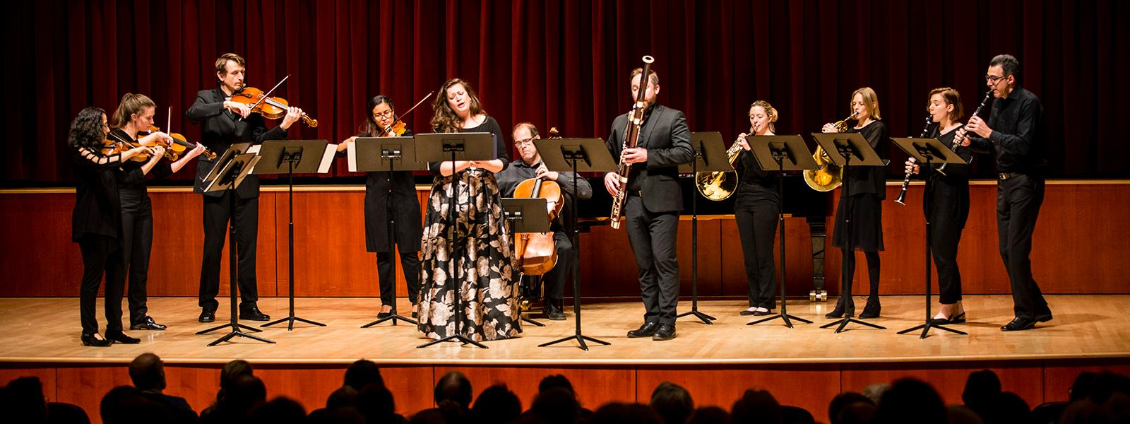 UNCSA School of Music faculty and students performing at the annual Mozart Birthday Concert / photo: Christine Rucker