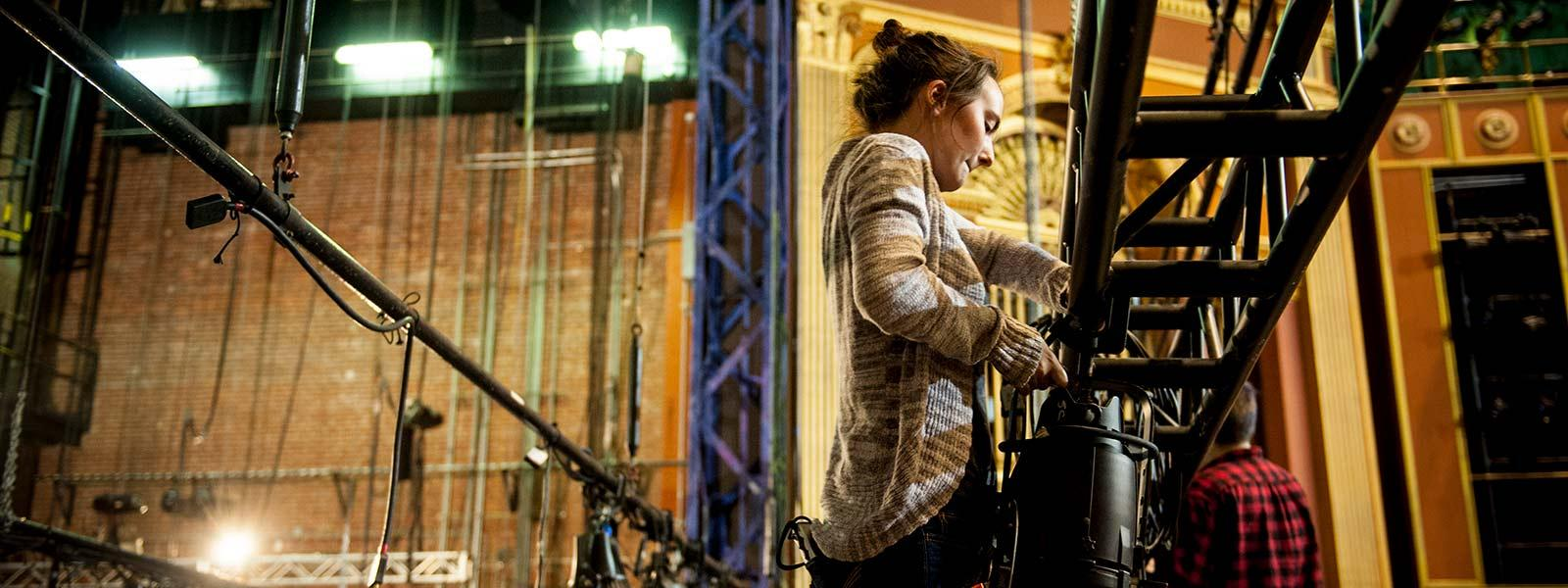 Stevens Center backstage