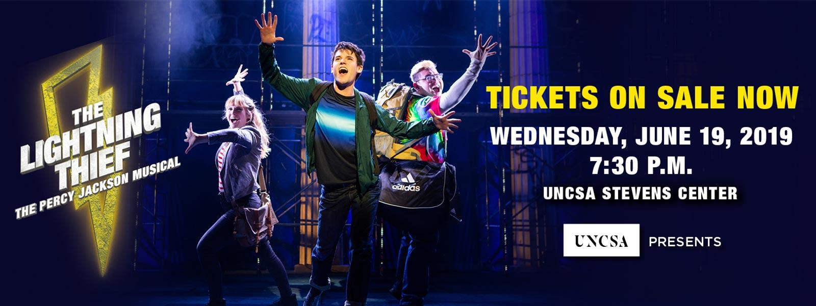"UNCSA Presents delivers a show for the whole family to enjoy—at the historic Stevens Center in Winston-Salem, for one night only! Based on the bestselling Disney-Hyperion novel by Rick Riordan, ""The Lightning Thief: The Percy Jackson Musical"" is ""worthy of the gods!"" (Time Out New York) >>BUY TICKETS"