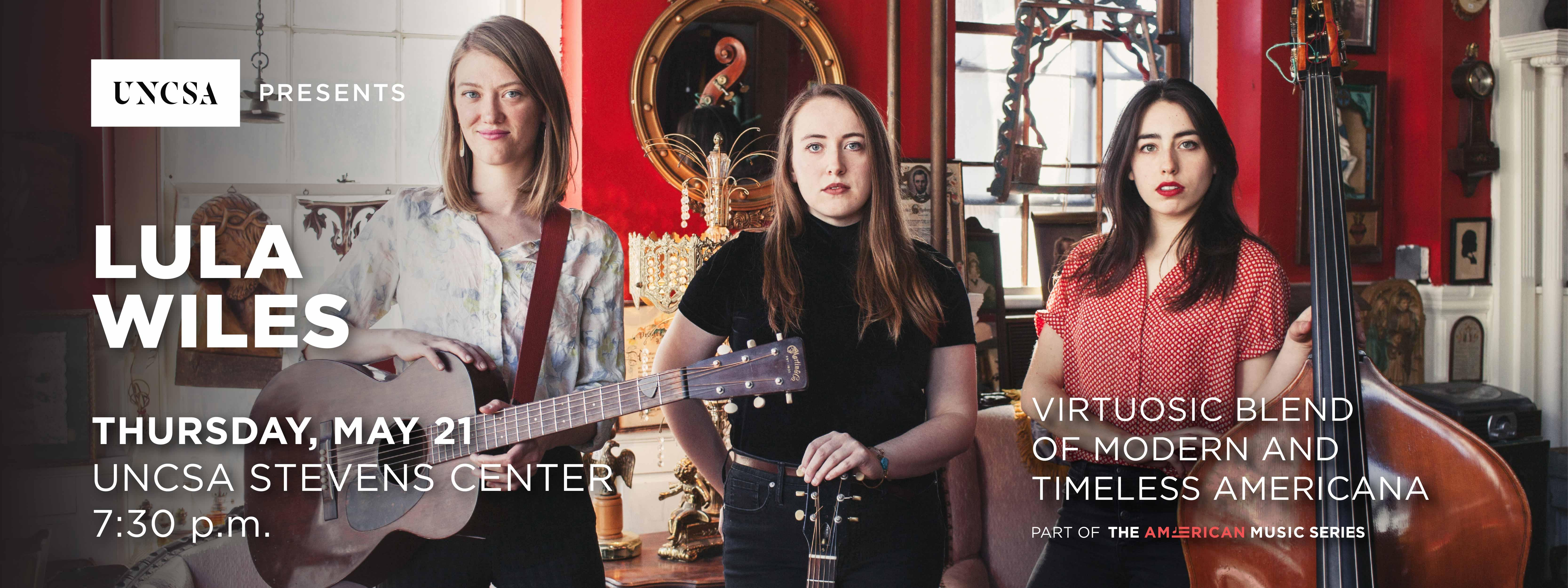 Lula Wiles brings their beautiful blend of modern/americana music to the Stevens Center stage.>>BUY TICKETS