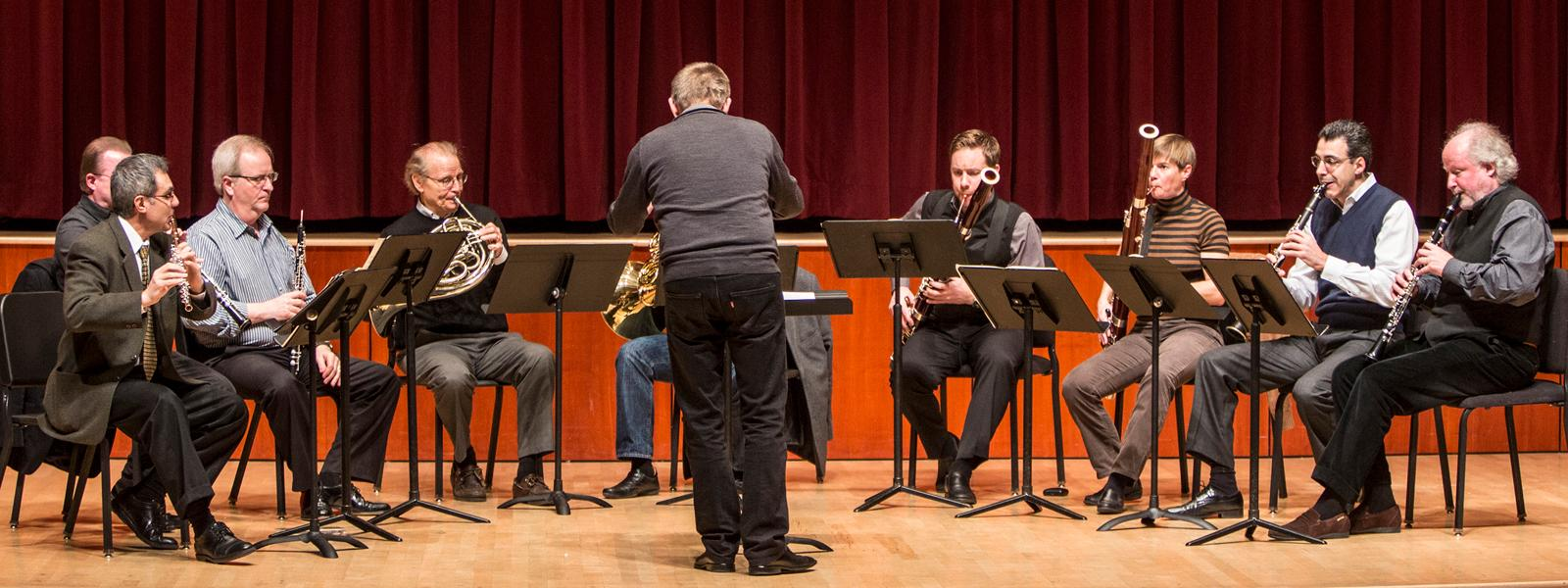 Chrysalis artists perform with the Berlin Philharmonic Wind Quartet / Photo: Brent LaFever