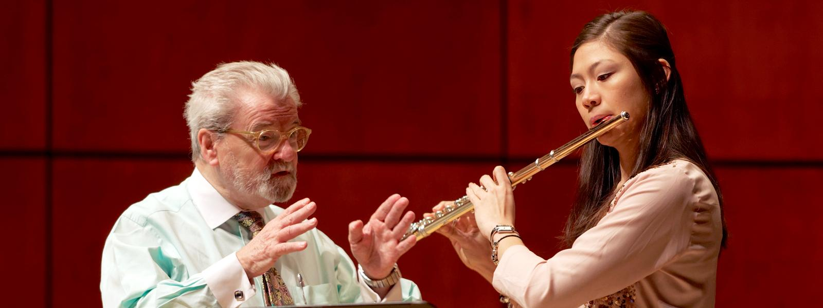 James Galway master class / Photo: G. Allen Aycock