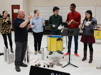 Minas gives a master class for UNCSA students
