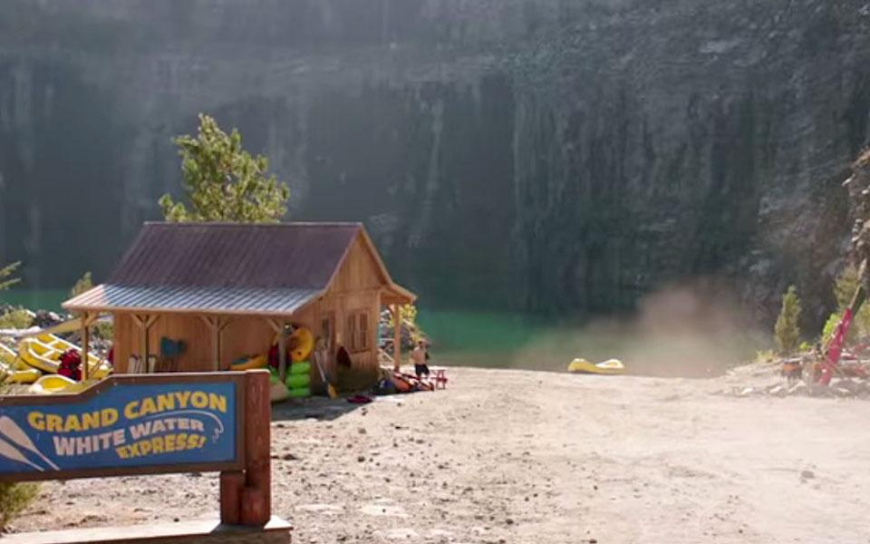 "The whitewater rafting complex brought to life in the 2015 film ""Vacation."""