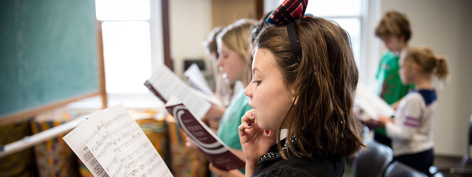 Children's Chorus at the Community Music School / Photo: Christine Rucker