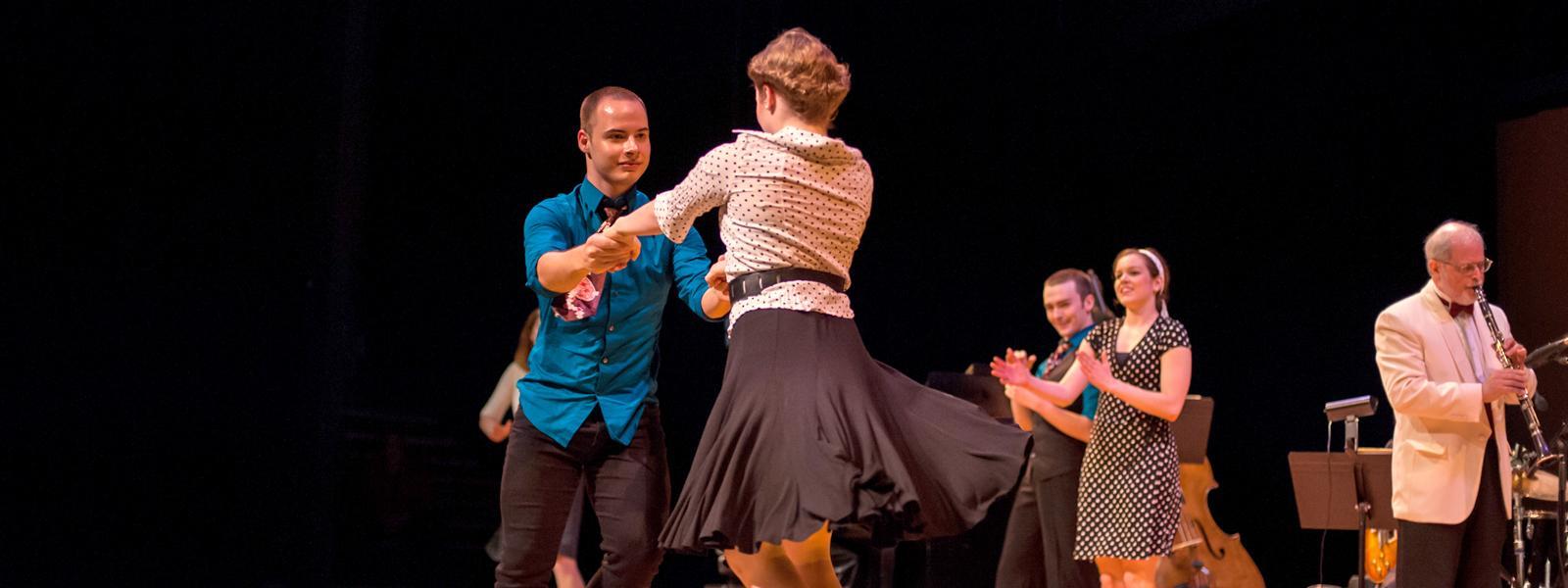 Dancers at the UNCSA Jazz Ensemble Swing Era Concert / Photo: S.D. Davis